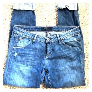 Hudson cuffed cropped skinny jeans size 29